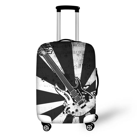 Travel Accessories Elastic Luggage Protective Covers for 18-30 Inch Suitcase Guitar Speaker Bass Printed Cases Cover