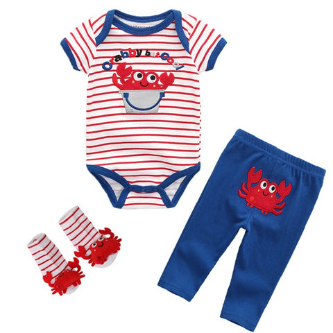 Baby Clothing Sets Newborn Baby Boy Girl Clothes Cotton Girls Summer Dresses Short O-neck unisex Infant Boy Clothing