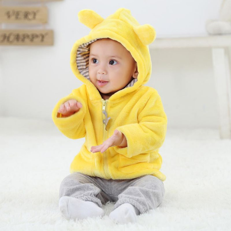 b10642e8d Infant Clothing Tops Fashion Baby 6-24M Newborn Baby Girls Boys Solid Long  Sleeve Hooded ...