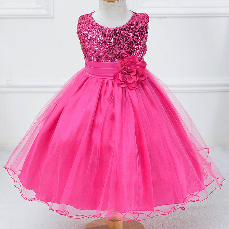 70d3c406de951 Girl floral princess party dress girls dress summer children clothing  wedding birthday baby dress tutu 2 ...
