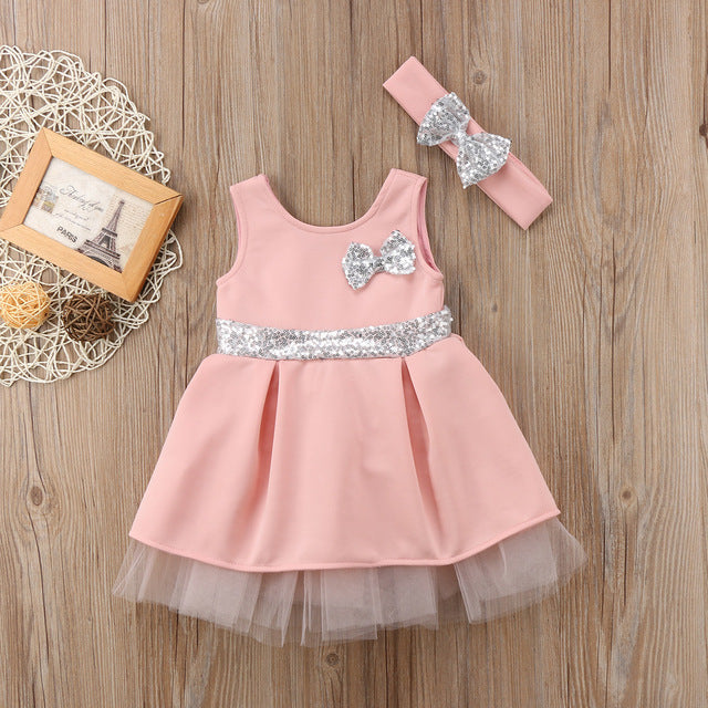 f3c85a9c05d3 JOHNKART.COM.  23.63 USD. Super Cute Babies Sequins Tulle Layered Dress  Toddler Baby Girls Princess Bowknot Tulle Pageant Party Dresses ...