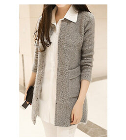 2018 New arriver Winter Women Sweater Casual Long Sleeve Knitted Cardigans Autumn Crochet Ladies Sweaters Fashion Female Cardigan