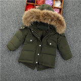 Children's Down Jacket Baby Clothing Baby Boys Jacket  Winter Jacket Warm Hooded Long Sleeve Jacket for A Boy 2 3 4 5 6 7 8Y