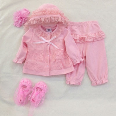 debf06543 3 Pcs cute newborn baby girl clothes set 1st birthday 2017 new style ...