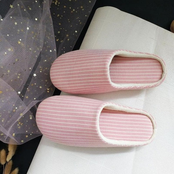 New Men Slippers Indoor Lover Women Cotton Slippers Home Mute Lover Soft Bottom Floor Slippers Women/men Shoes