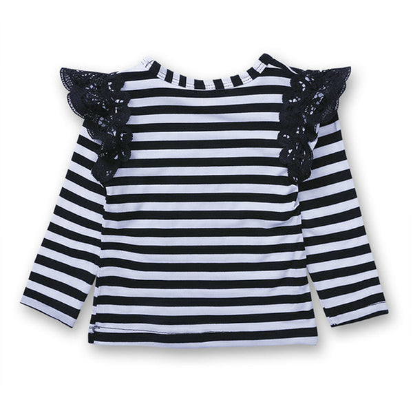 Baby Girls Cute Spring Autumn T-shirt Tops Outfit Blouse Clothing Newborn Toddler Kids Flying Tee Clothes Long Sleeve T-Shirts