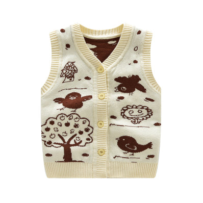 Cotton Baby Vest Wool Cardigan Vest Crochet Fashion Boy Clothes Patterns Vest For Newborn Baby Autumn Winter Baby Boys Clothing