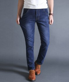 Autumn stretch Jeans men's Business Casual long Pants Winter Loose Men's Large size Jeans Fashion Trousers