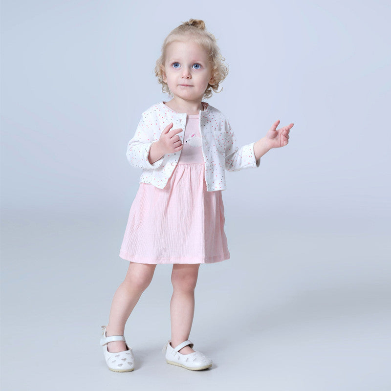 Brand 2018 summer baby girl set ,0-24M 100% cotton baby girls clothes summer flower girl dress , 2 pc/set baby dresses for girls