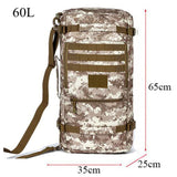 High quality hot men's bags nylon 60 litres military waterproof multi-functional leisure travel backpack 17 inch laptop girl bag