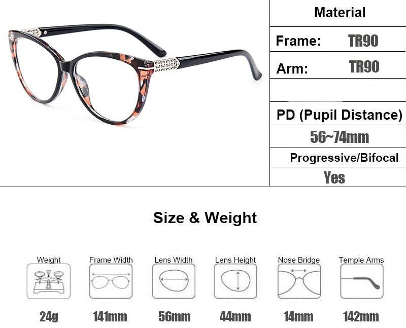 Optical Ultra-Light TR90 Cat Eye Style Women Optical Glasses Frames Optic Glasses Frame For Women Myopia Spectacles M1697