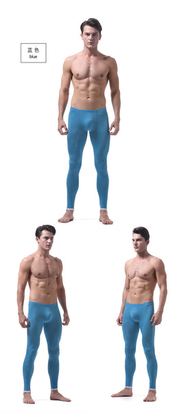 thermal underwear for men underpants slim ice silk bottom underwear men autumn home pants men's thermal underwear thermo