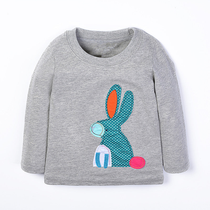 Jumping baby Girls T Shirt Children Clothes Kids Long Sleeve Tees Tops autumn Cotton Camiseta T-shirts Roupas Infantis