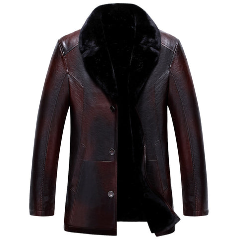 Winter Jacket Men Casual Chaquetas Hombre Solid Color Warm Coat Turn Down Collar Parkas Thick Male Casaco MZ2064