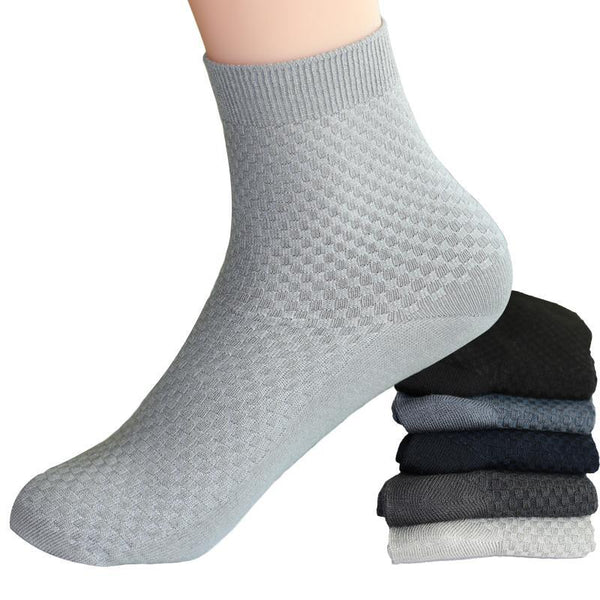 efero Men Warm Sock Winter Autumn Ankle Socks Male Solid Color Casual Short Socks Compression Men's Dress Business Sock 2 Pairs