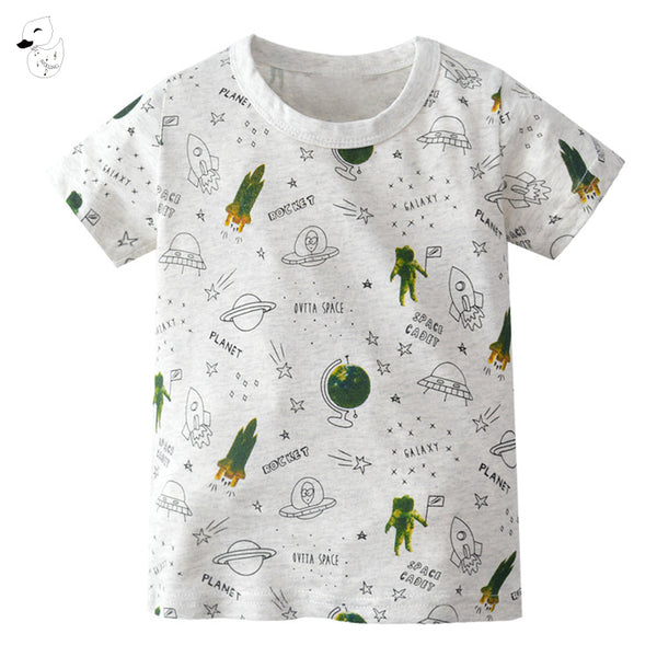 Children's Clothing T Shirt Boys T-shirt Baby Clothing Summer Shirt Tees Alien Planet Cotton 2018 Tops Tees T Shirt