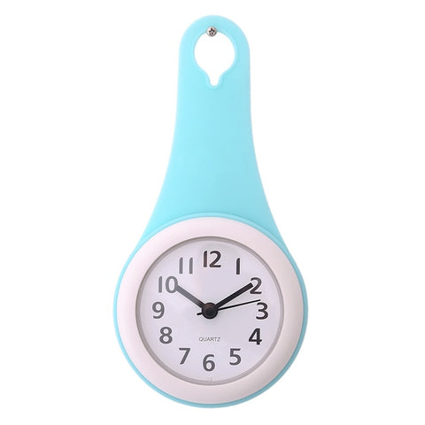 kitchen Bathroom Wall Clock Waterproof  Silent multifunction Creative Shower Wall Clocks Home Decor with Sucker 2018