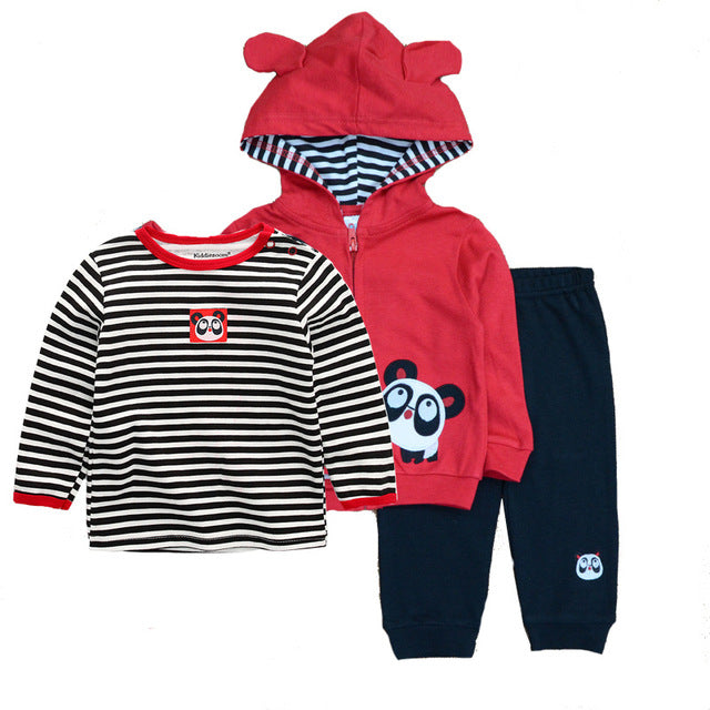4dedb20ced baby clothing set 3PCS hoodie+T-shirt+pants ropa bebe 12-24 months ...