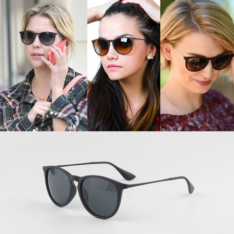 Women Erika Sunglasses Metal Frame Reflective Coating Mirror Polarized Lens Brand Designer Sun Glasses Oculos De UV400