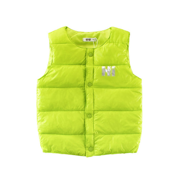 new Autumn winter kids warm vest boy girl Sleeveless sweater coat baby toddler fashion sport Children's clothing clothes