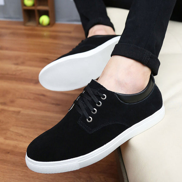2018 new fashion spring/summer suede  casual flats shoes men sneakers lace-up breathable men shoes 39-48 plus size