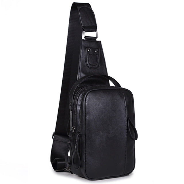 84c6bad38f5c JOHNKART.COM.  49.99 USD. Fashion Leather Chest Pack Male One Shoulder Bags  Korean Men s Casual ...