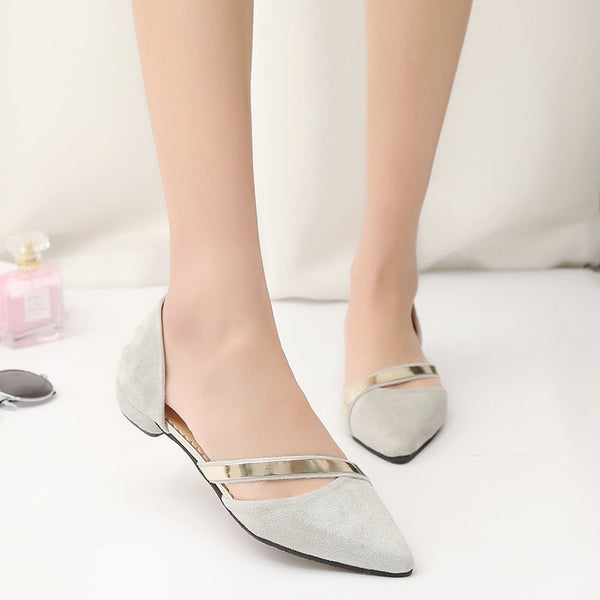 New fashion trend Women shinning Flat Shoes Slip On Shoes Women Shallow Mouth Flat Shoes Women Faux Suede sequins flat shoes