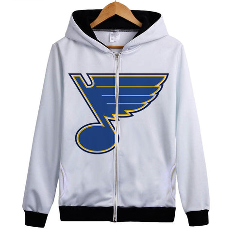 Hoody St. Louis Blues hoodie sweatershirt coat Fashion jacket outer wear thin fleece Casual Hooded Top Clothes Fashion hoody