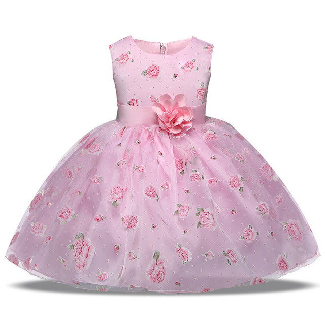e403d27d9f310 Elegant Flower Fancy Dress for Girl Pageant Party Formal Party Dress Girls  Wedding Flower Girl Children Princess Clothing 4-10Y