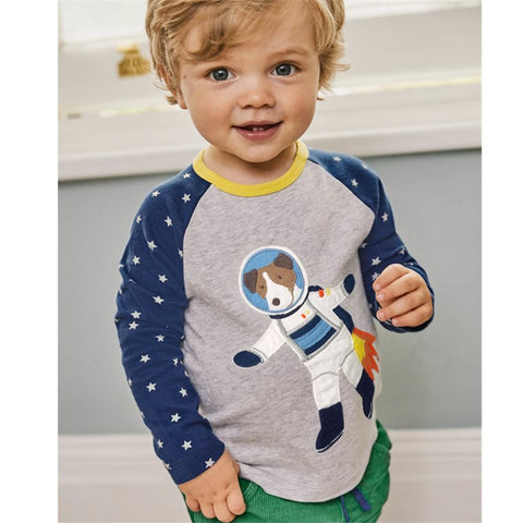 Jumping meters New models fashion Baby T shirts Boys autumn spring kids clothes cotton long sleeve children Boy O-neck T-shirt