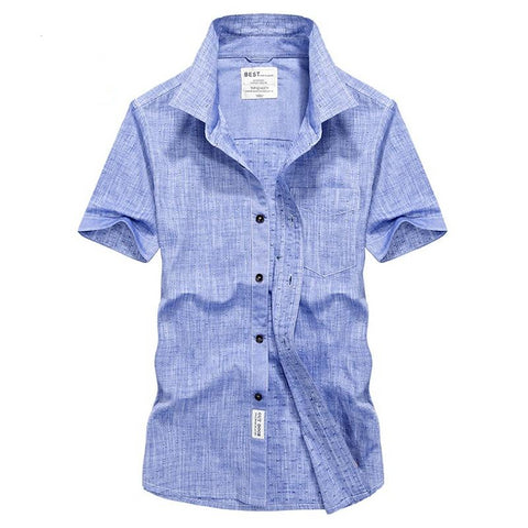 Europe men's summer casual brand good quality soft cotton white short sleeve shirt man afs jeep fashion blue shirts top tee