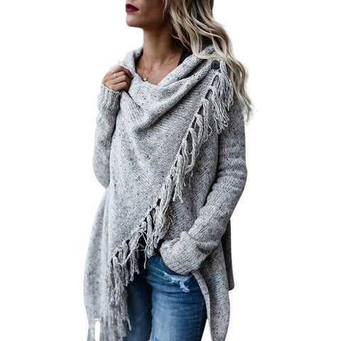 53a8a39efdf3 Criss cross knitted cardigans for women fashion irregular slim fringe long  cardigan female winter sweater jackets