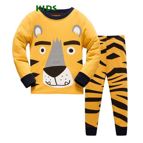 Baby Girls Boys Clothing Set Children Pajamas  Pyjamas Nightwear for Cotton Animal Clothes Toddler Long Sleeve Kids Sleepwear
