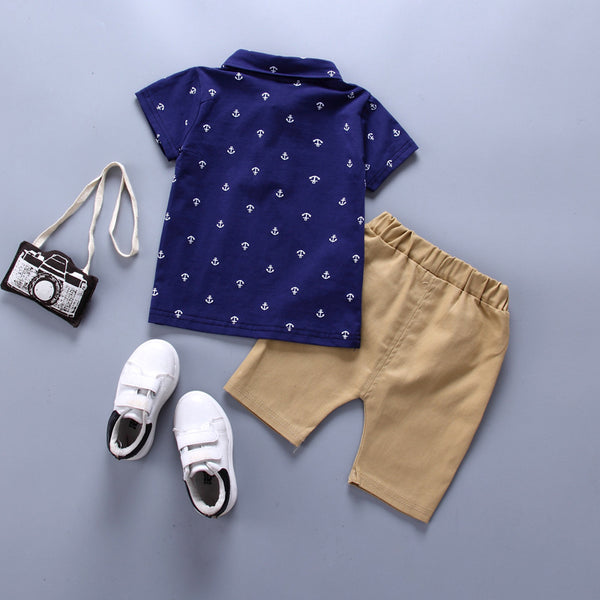 Summer new Clothing Sets boy Cotton casual children's wear Baby Boys T-shirt+ Shorts Pants 2 Pcs Clothes Sets