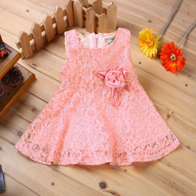 Baby Dresses Girl Princess Dress Flower Toddler Infant Newborn Baby Girls Party Wedding Dress Baby Lace Dress Brand