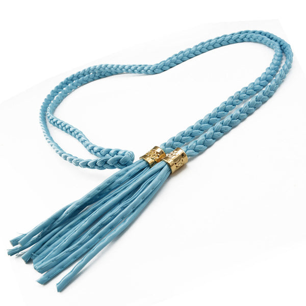 10 Colors PU Leather Long Cute Belt Cowhide Chain Women Decoration Waistband Rope Belt Tassel Straps Ceinture waistband F0219