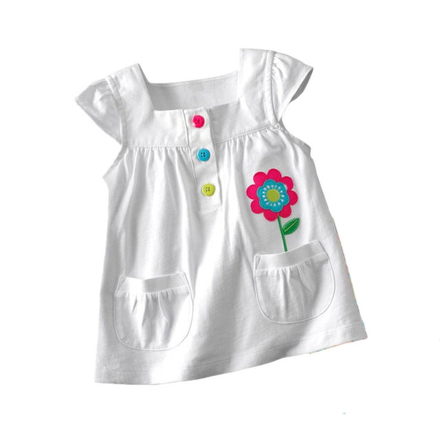 baby Girl t-shirt big Girls tees t shirts children blouse t-shirts super quality kids summer clothes rabbit pink brand
