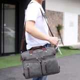 New Fashion Men Canvas Bag Male Multifunctional Shoulder Bags Handbags Large Capacity Travel Bag Messenger Bag For Men