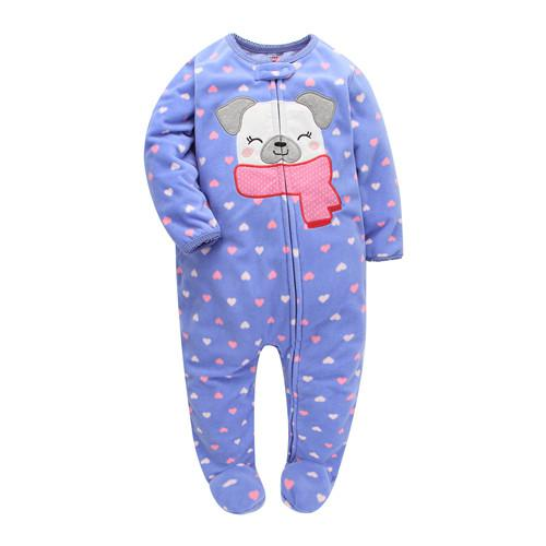 New 2018 Autumn Spring Baby Rompers Clothes Long Sleeves Newborn Boy Girls Polar Fleece Baby Jumpsuit Baby Clothing 9-24m