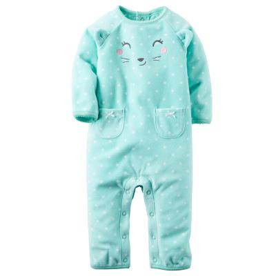 f0d26b650688f New 2018 Autumn Spring Baby Rompers Clothes Long Sleeves Newborn Boy Girls  Polar Fleece Baby Jumpsuit Baby Clothing 9-24m