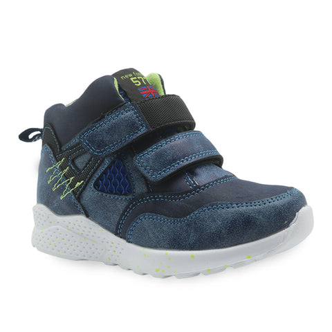 Spring Autumn Boys Shoes Pu Leather Ankle Boots for Little Kids Patched Children's Shoes New Flat Sneaker EUR 27-32