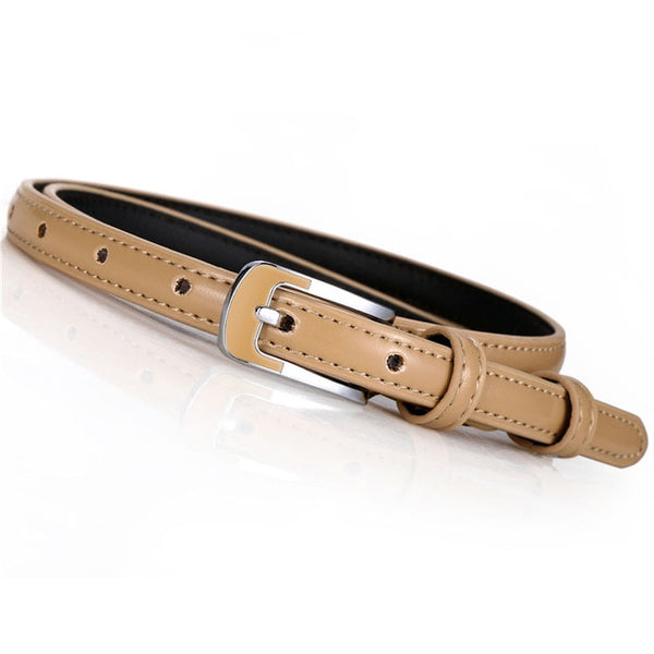 New Arrival 12 Colors 1.5cm Thin Waist Belt Women Western Gold Silver Black White Waistband Belts for Dress