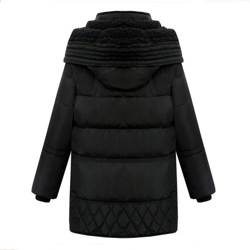 The New Female Thick wool Keep warm Winter Parka High Quality Big pockets Casual Down Jacket 2018 Hooded Removable Down Jacket