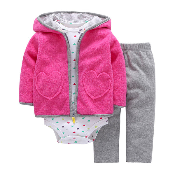 Cotton Full Rushed Direct Selling 3 Oz. Baby Girl's Jacket Trousers T-shirt Boy Fashion Girl Dress Suit Boy's Tights Cloth