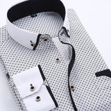 Men Dress Shirt Spring New Arrival Button Down Collar High Quality Long Sleeve Slim Fit Mens Business Shirts S-4XL YN026