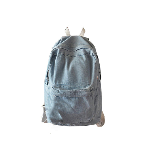 New Denim Backpack Women blue Backpacks Jeans canvas Backpacks For Teenage Girls 1011#23