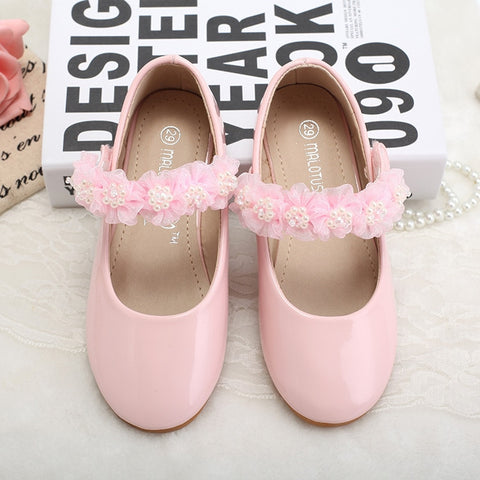 Girls Leather Shoes Girl Children New Fashion Party Princess Dress For Leather Wedding Flower Children Shoes