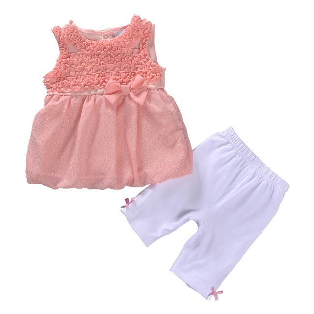 77ccf49dc90 2018 New Summer Baby Girl Clothes Set Toddler Girl Clothing Set Sleeve