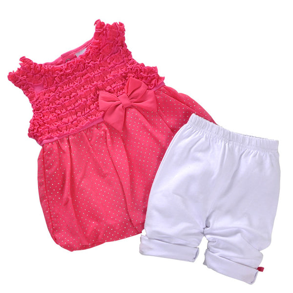 2018 New Summer Baby Girl Clothes Set Toddler Girl Clothing Set Sleeveless Dresses Legging Infant Clothing Boutique Birthday