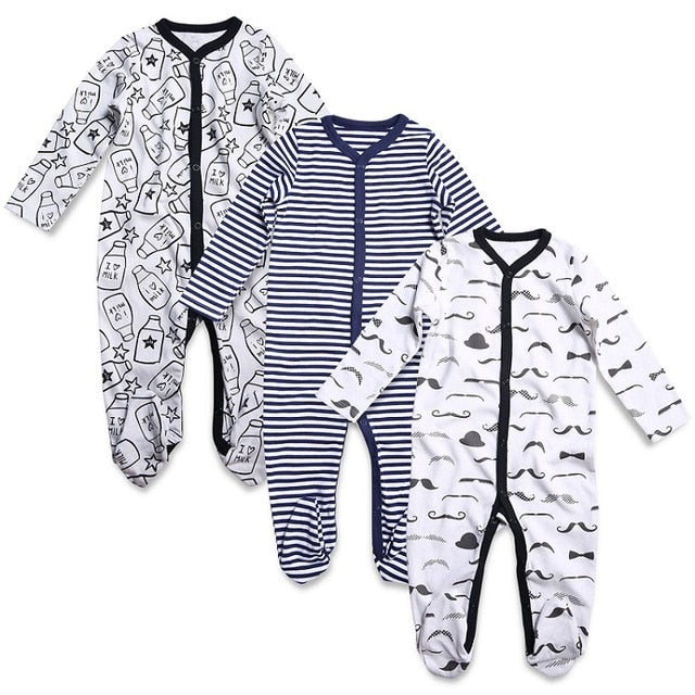 Good Boys Girls Clothes Set Dinosaur Printed Rompe Jumpsuit pants+hat 3pcs Newborn Baby Autumn Cotton Outfits Set Clothing #30 Pretty And Colorful Clothing Sets Mother & Kids